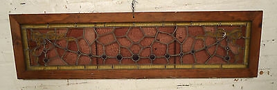 Wide Vintage Antique Stained Glass