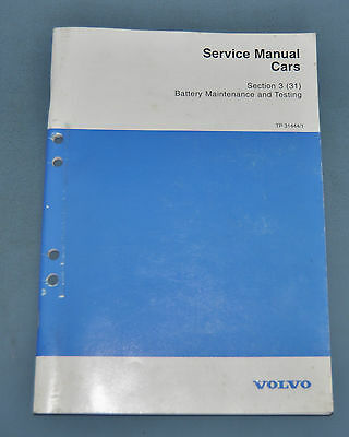 1962-99 Volvo Battery Maitenance and Testing Factory Shop Repair Service Manual