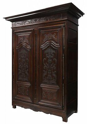 LARGE 18TH C., CARVED FRENCH ARMOIRE 18th Century ( 1700s )