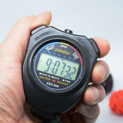 Digital Handheld Stopwatch With Alarm Counter Fast Shipment