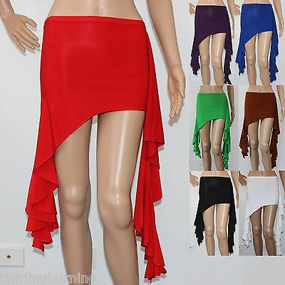 Miniskirt /Over Skirt with Frill 7 Colours AU 8-10 Belly Dancing Belt Scarf AB03