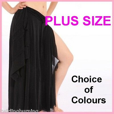 *PLUS SIZE* Belly Dancing Slits Skirt Dance Costume S2