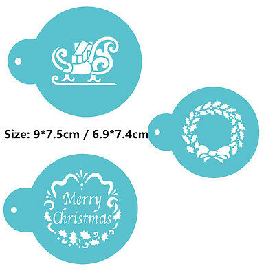 3 Pcs Packed Flower CL Cookie Cake Stencil Decorate Mould Fondant Biscuit Tool