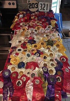 *HUGE* Vintage Horse Equestrian Show Ribbons LOT of (120+) 4-H Club