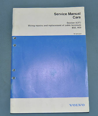 Volvo 850 Wiring Repairs and Replacement of Cable Terminals Service Manual OEM
