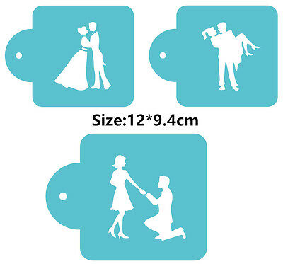3 Pcs Packed Marry Love Cookie Cake Stencil Decorate Mould Fondant Biscuit Tool