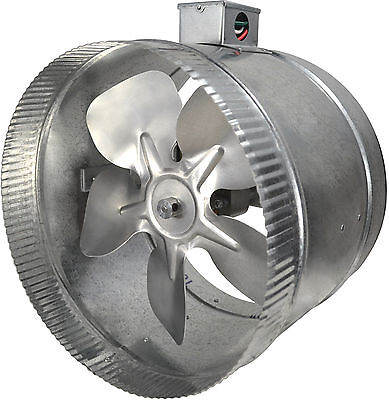 "Suncourt - Inductor 10"" In-Line Duct Fan 2-Speed - DB310"