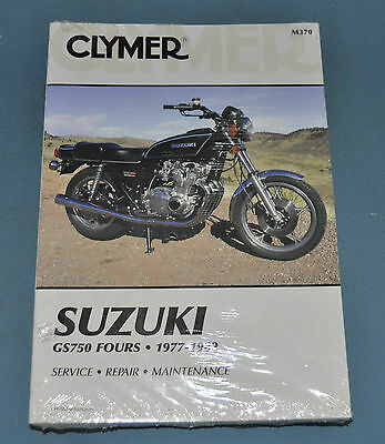 1980-81 Suzuki GS1100 Fours Chain Drives Clymer Service Manual New In Plastic