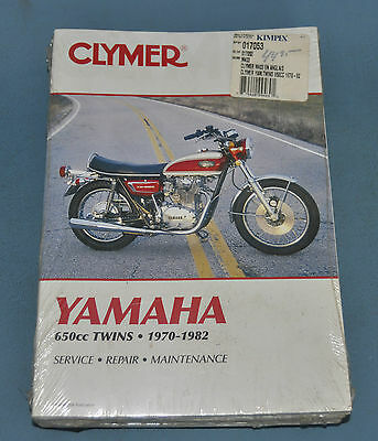 1970-82 Yamaha 650 Twins Clymer Service Shop Repair Manual New In Plastic