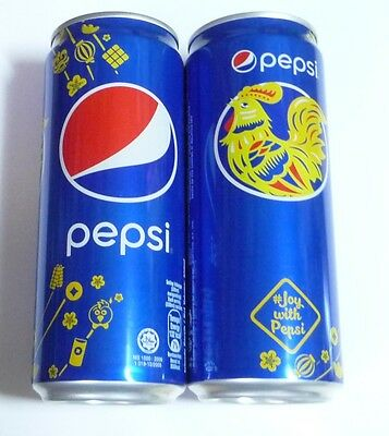 PEPSI Cola can MALAYSIA Tall 330ml Promo 2017 Limited Edition ROOSTER CNY