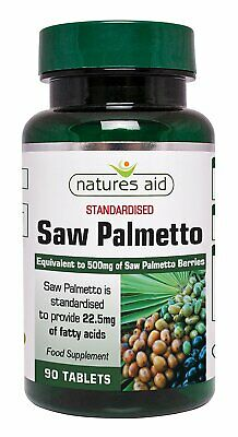 Natures Aid Saw Palmetto 500mg - 90 Tablets