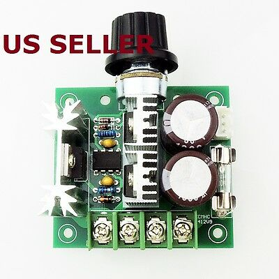 US SHIP12-40V 10A 13kHz Pulse Width Modulation PWM DC Motor Speed Control Switch