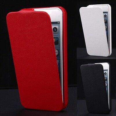 Luxury PU Leather Cover Vertical Flip Fitted Pouch Case For Apple iPhone 5/5S/SE