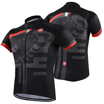 Mens Bike Cycling Tops Outfits Jersey Short Sleeve Shirt Pockets Cool Sweater