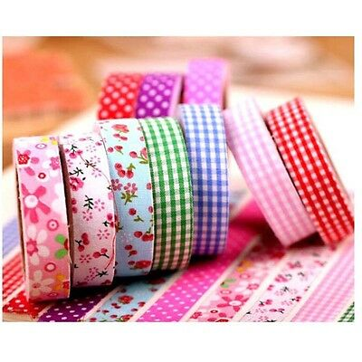 Stripe Washi Washi Tape 15mm Adhesive Craft Gift Scrapbooking Glue Stickers CA
