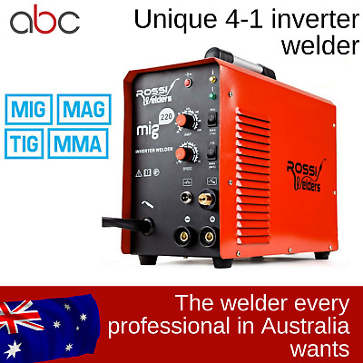 ROSSI MIG TIG MMA 4 IN 1 Welder Inverter 220Amp Gas Gasless Wire Portable