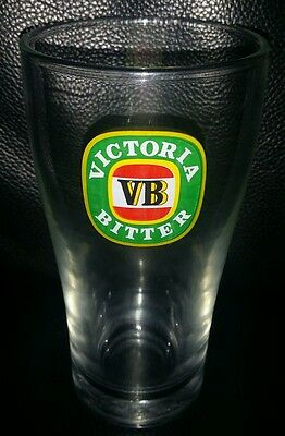 Rare Collectable Vb Victoria Bitter 285Ml Beer Glass In Good Used Condition