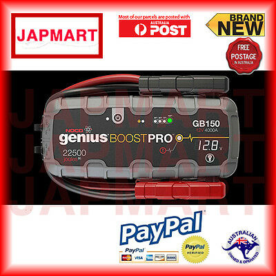 NOCO Genius Boost GB150 Jump Starter Jumper Pack Portable12v 4000 amp 2018 stock