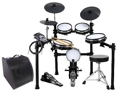 Bateria Electronica Kit Percusion Electronico Drum Set E-Drum Mesh Rack Modulo