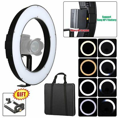 Fotoconic 15'' / 38cm DVR-112TVC Li-ion Battery Powered Dimmable LED Ring Light