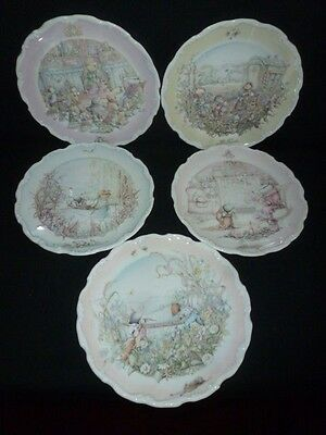 Five Royal Doulton The Wind in the Willows Plates