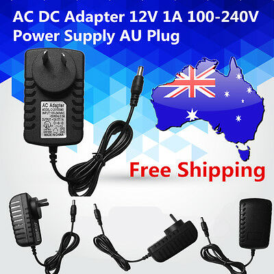 AC DC Adapter 12V 1A 100-240V Converter Adapter Charger Power Supply AU Plug ZA