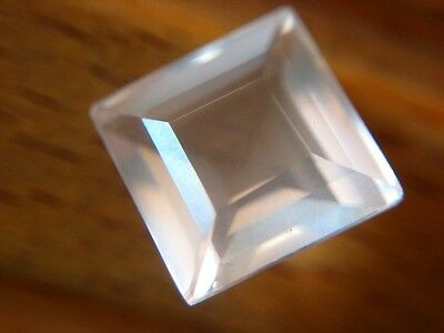 ROSENQUARZ  -  SQUARE FACET  -  8,2 mm  -  3,20 ct.