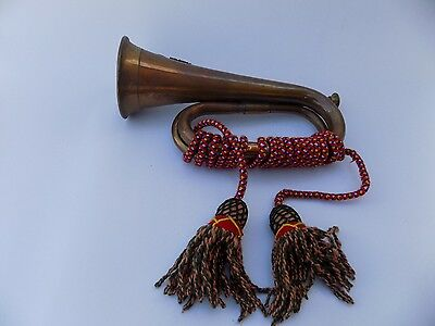 Vintage 23rd Royal Welsh Fusiliers Brass & Copper Bugle