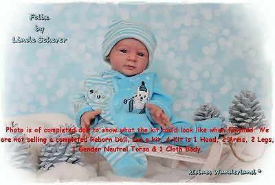 Reborn Doll Kit, Felix By Linde Scherer, Vinyl Doll Kit
