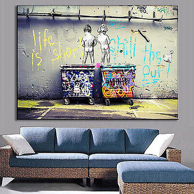 HUGE MODERN ABSTRACT WALL DECOR ART OIL PAINTING ON CANVAS no frame Childen
