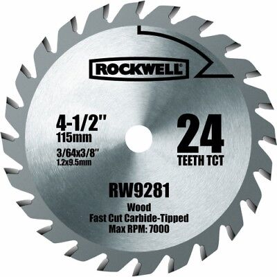 "Rockwell RW9281 4 1/2"" 24T Carbide Tipped Compact Circular Saw Blade"