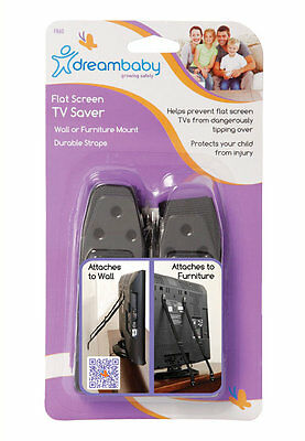 DreamBaby Flat Screen TV Saver - Child Safety Anti Tip Over Straps - NEW