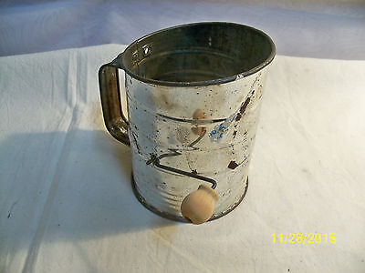 Vintage Flour Sifter Stainless