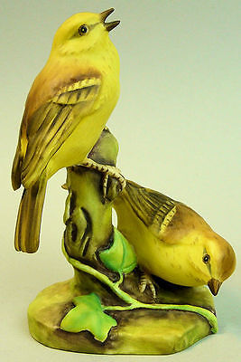 Fine  Royal Worcester Porcelain Bird Figure Group Yellow Hammers 3377