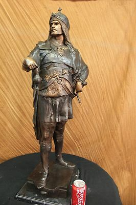 "36""Tall Bronze Sculpture Collector Numbered Edition Arab Man Figurine Hot Cast"