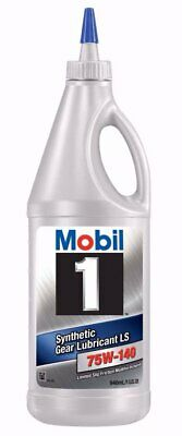 Mobil 1 Synthetic Gear Lube, LS 75W-140, 1-Quart 102490