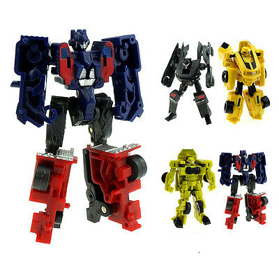 Classical Kids Transformer Robot Car Action Figures Toys Boys Assembly XMAS Gift