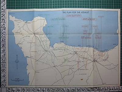 Ww2 Map ~ The Plan For The Assault Caen Corps Second British Army Airborne