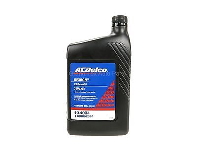 NEW ACDelco Dexron LS 75W-90 Gear Oil 1 Quart 32oz 10-4034 w/ Friction Modifier