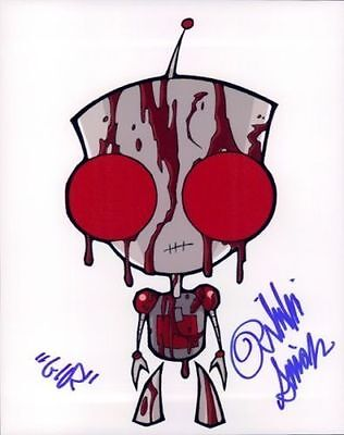 Rikki Simons In Person Signed Photo - B473 - GIR - Invader ZIM