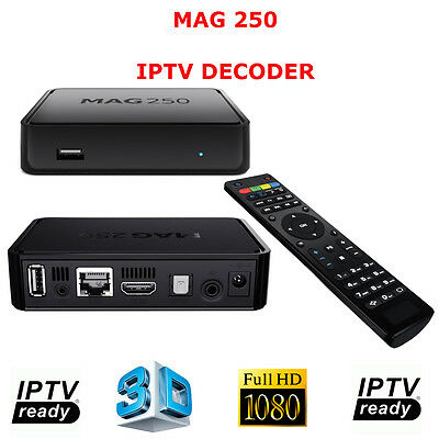 MAG250 IPTV DECODER HDTV 1080P STREAMING TV HD BOX MEDIA PLAYER USB 24H* Mag 250