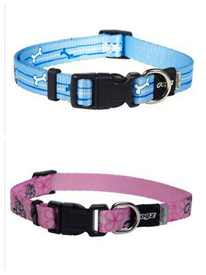 Rogz Pupz Adjustable Nylon Dog Collar Lots Of Colours And Sizes