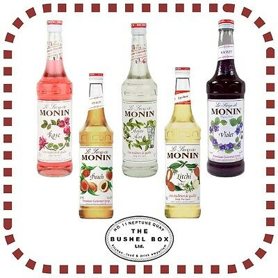 MONIN Syrup 70cl / 5 cl gift pack glass bottle *Multi-listing* Various flavours