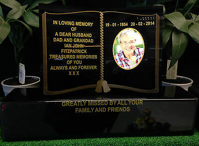 Personalised Memorial Grave Marker Book Photo Wording Special Anniversary Angel