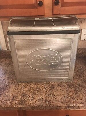 Vintage Pepsi Stainless Steel Cooler!! Cola 7Up Rare!!