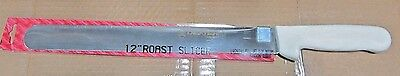 "12"" Slicer Knife, Stainless Steel Serrated Blade, White Handle, Dexter"