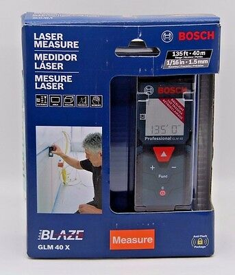 Bosch GLM 40 X 135FT/50m 1/16in 1.5mm LASER MEASURE. (BRAND NEW)