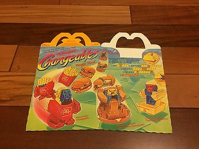 McDonald's Changeables Happy Meal Box - New Unfolded - Clean