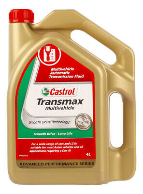 Castrol Automatic Transmission Fluid Transmax Multivehicle 4L 3 Box 3371183-B...