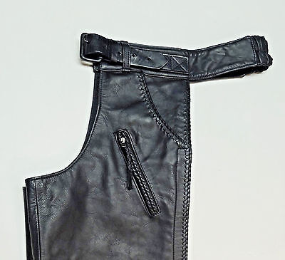 Harley Davidson Willie G Black Leather Chaps  *made In Usa*  Mens Large Lg  250
